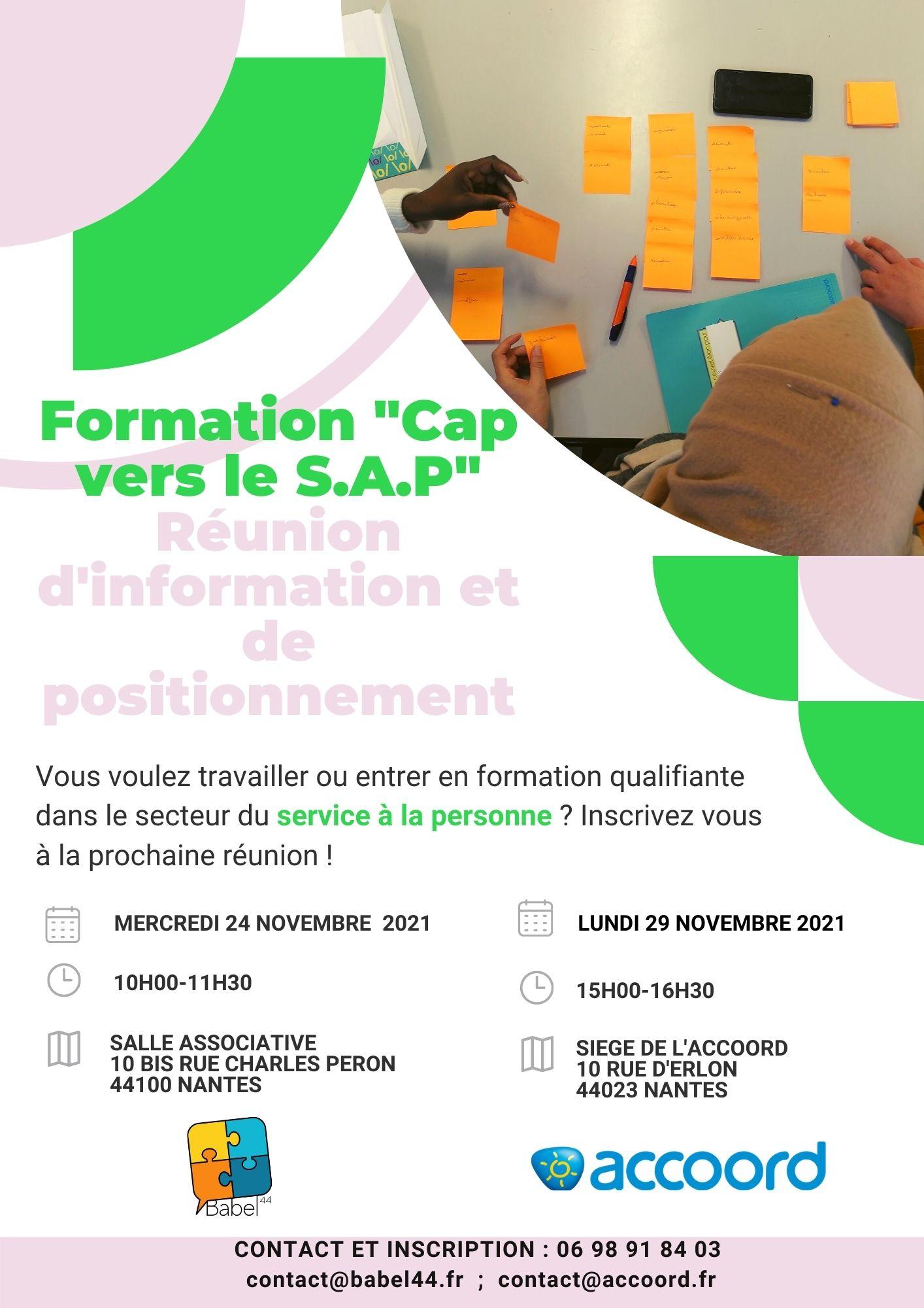 Nouvelle formation ! Cap vers le SAP (service à la personne) – Inscrivez-vous!